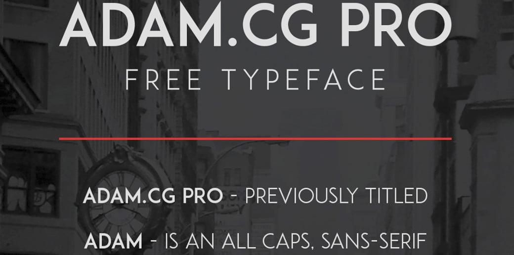 bold typography image ADAM