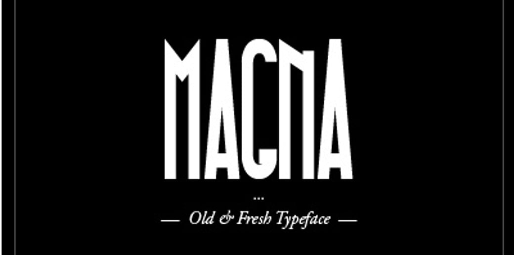 bold typography image Magna Typeface