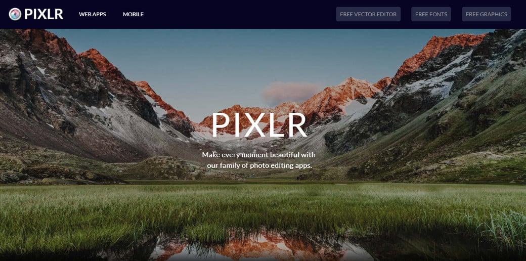 online graphic design tool pixlr
