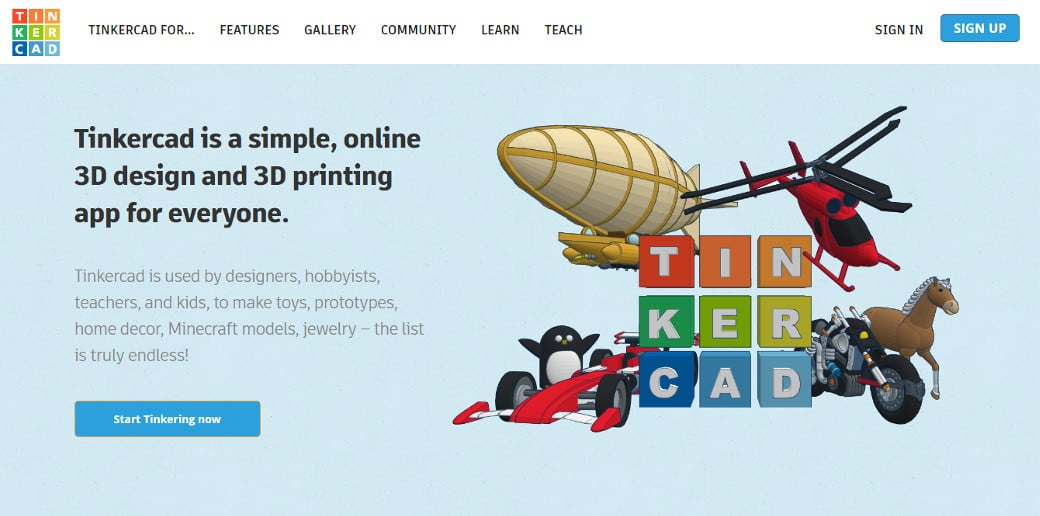 online graphic design tool tinkercad