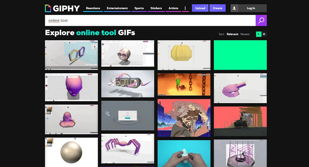 Giphy free marketing tool
