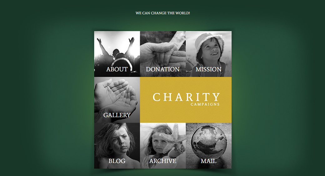 children's charity website template for NGO