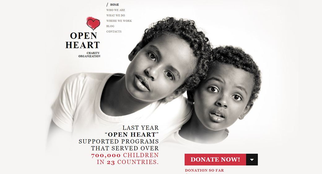 donation - children's charity template