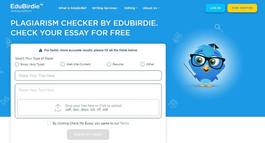 Edubirdie plagiarism detection software