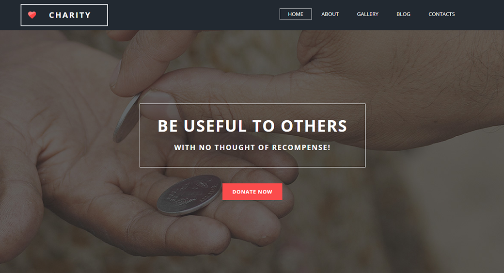 fund children's charity website template