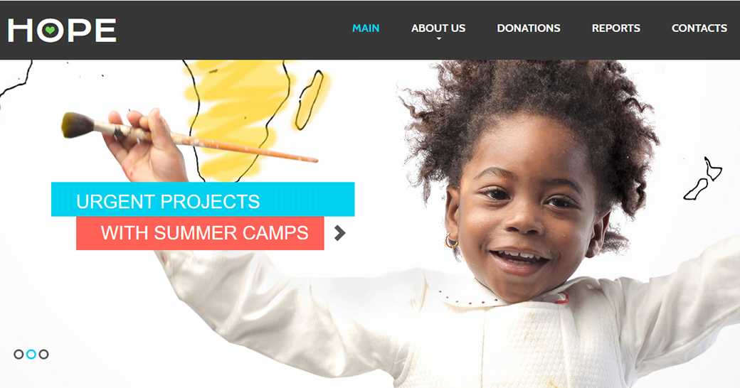 hope children's charity website template
