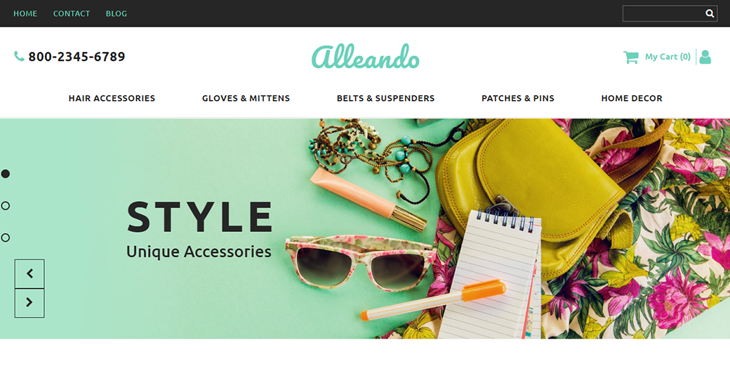 Alleando Ecommerce Website Template in spring colors