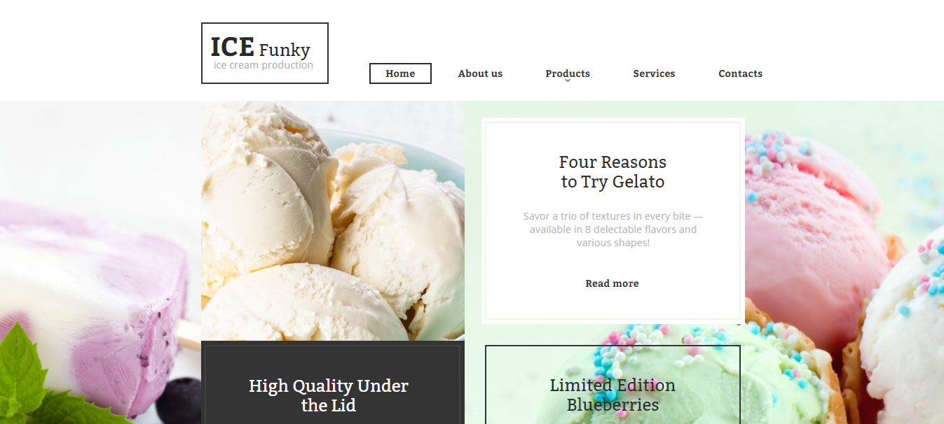 ICE Funky HTML Website Template
