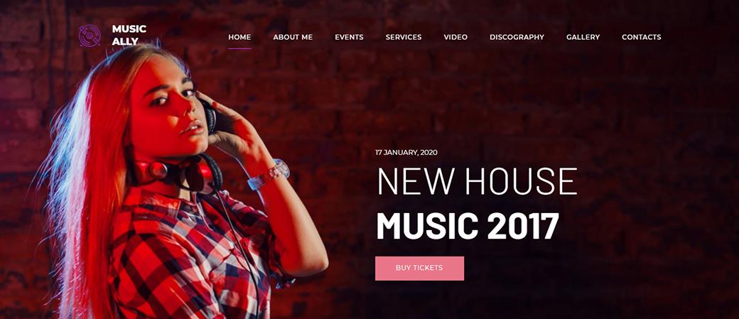 MusicAlly DJ Website Template