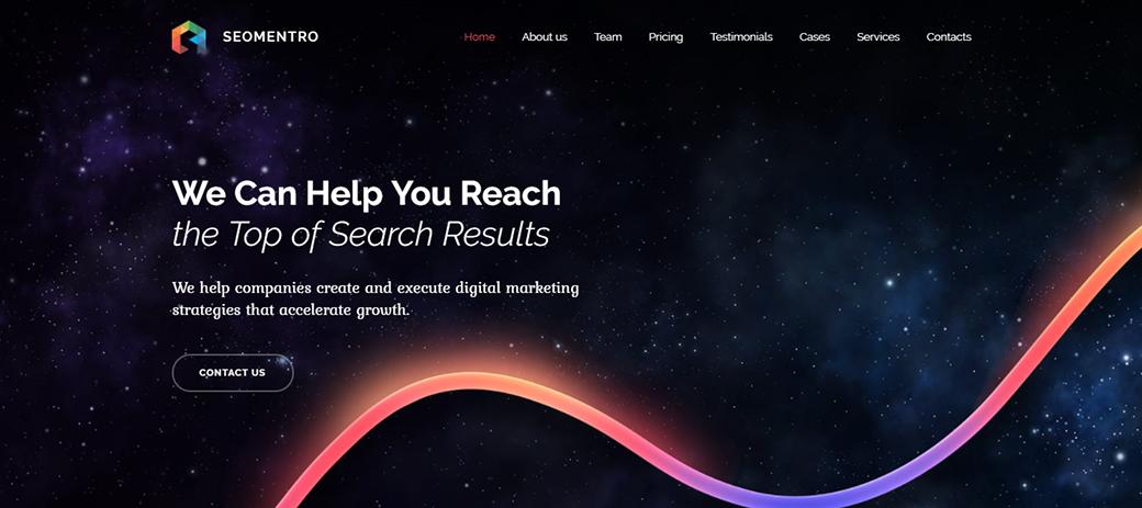 Seomentro Responsive Website Template