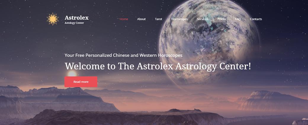 Astrology Center Website Template