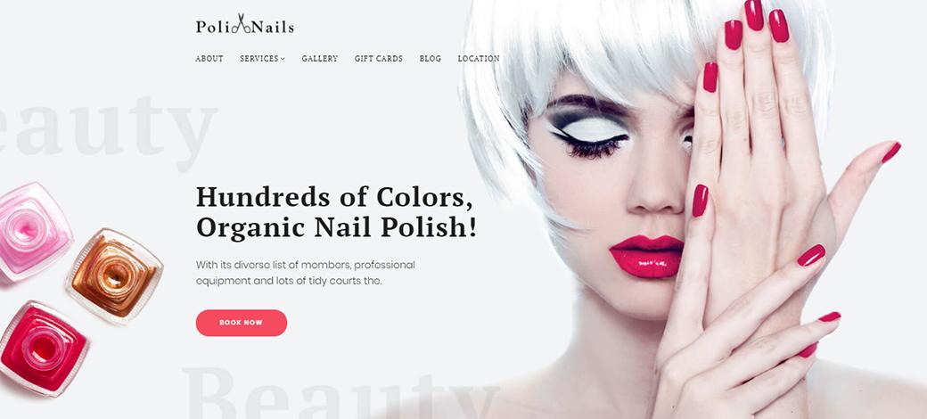 Nail Salon Website Template