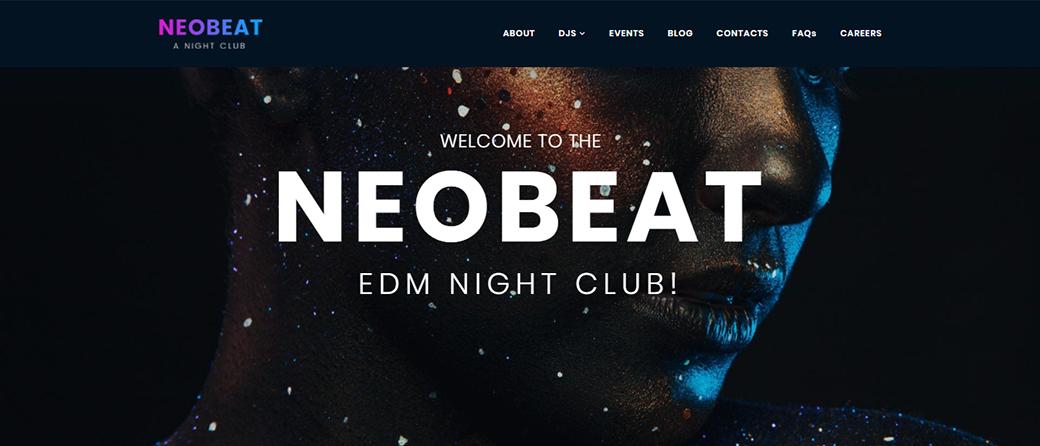 Entertainment MotoCMS 3 Responsive Website Template