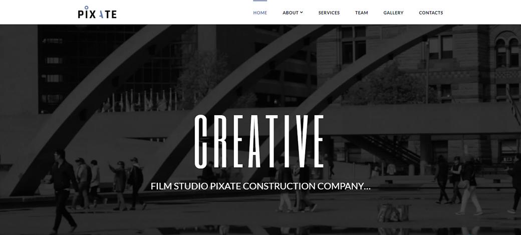 Pixate - Movie Studio Website Template
