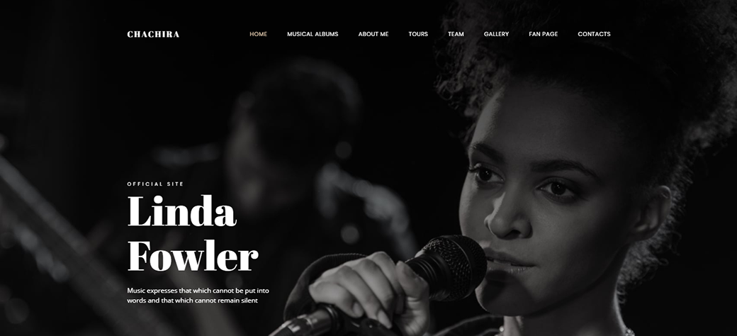 Chachira Songwriter Website Template