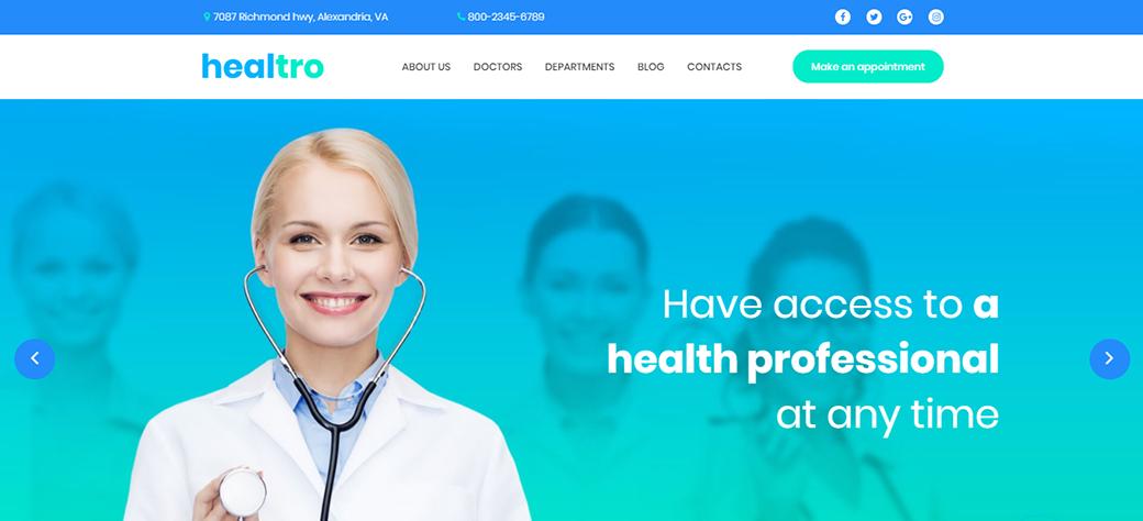 Healtro Responsive Website Template