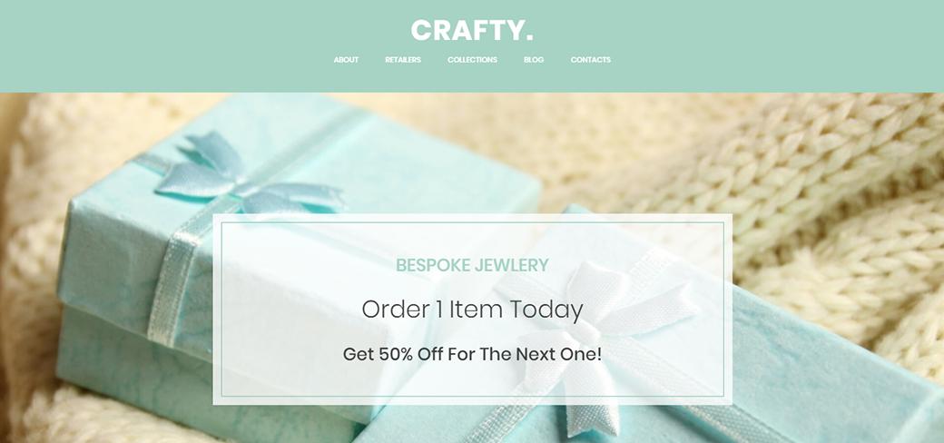 Handmade Jewelry Artist Website Template