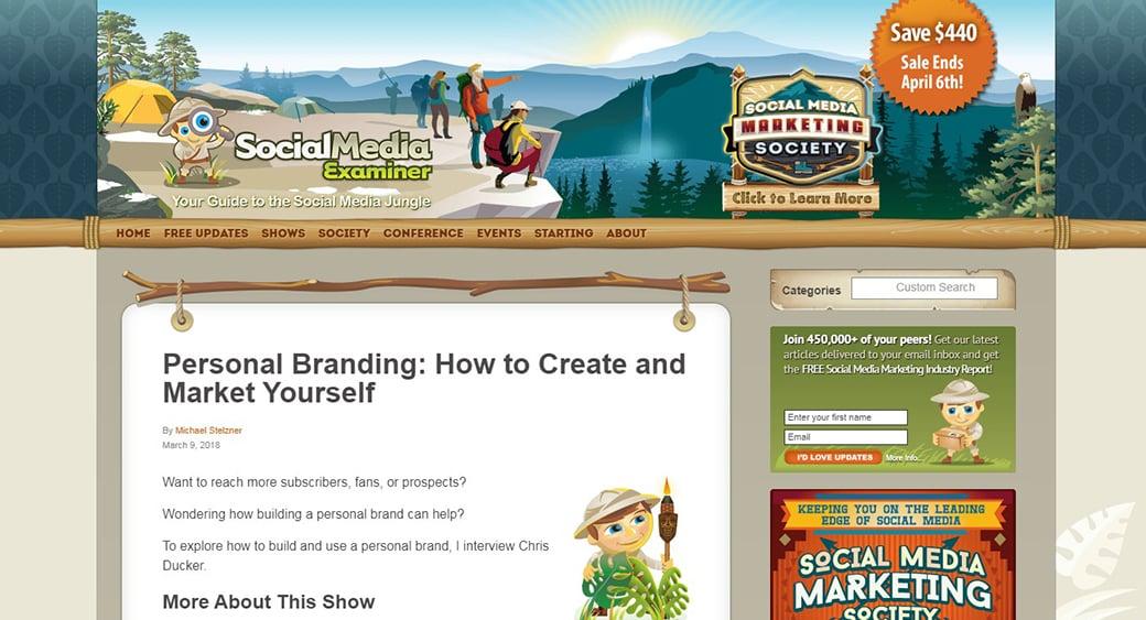 social media examiner content marketing podcast