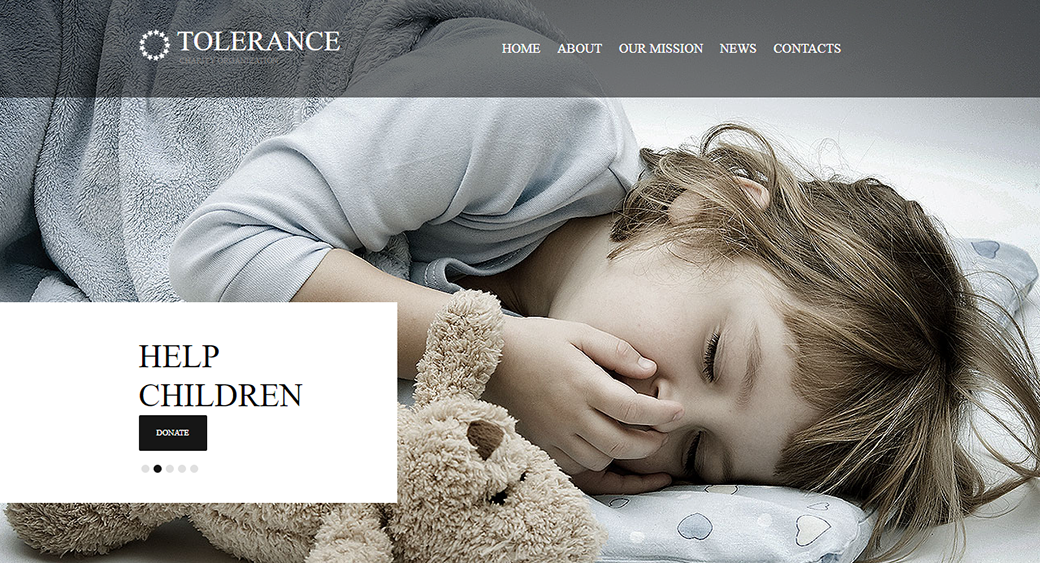 tolerance - children's charity website template