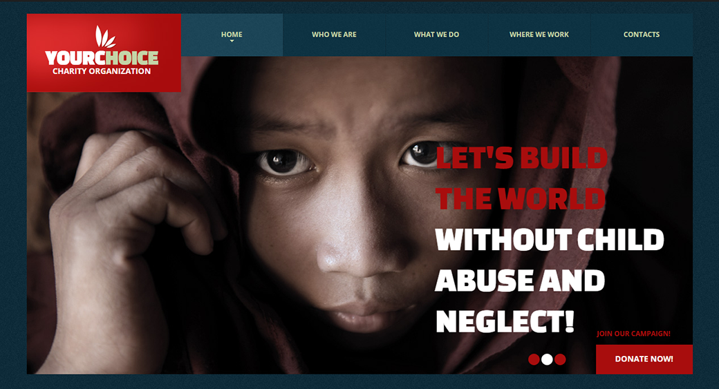 children's charity website templates