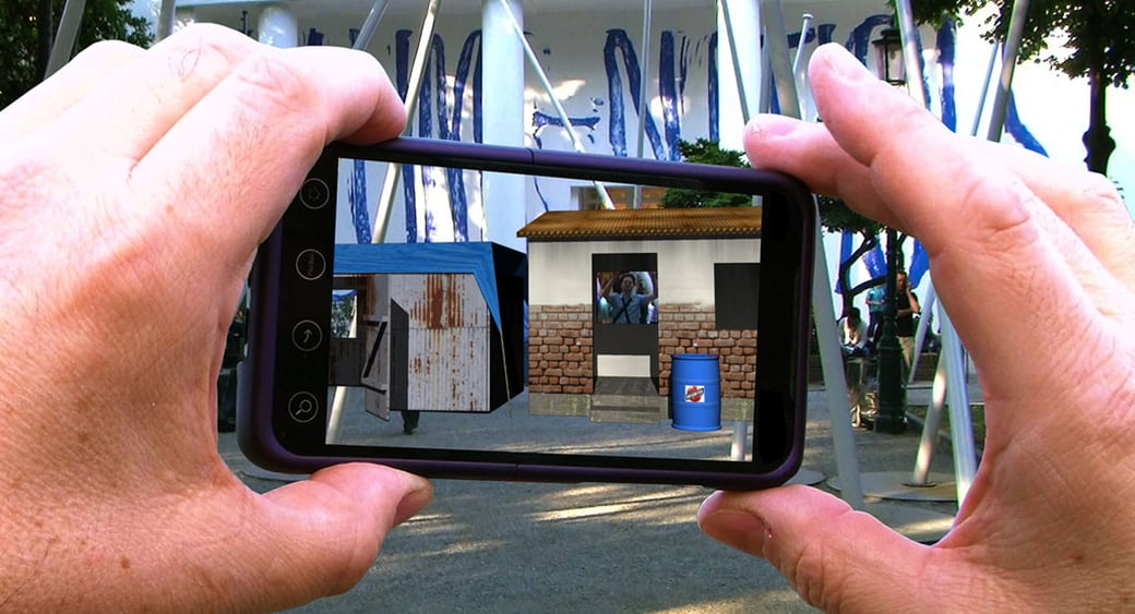 augmented reality marketing and VR Advertising image