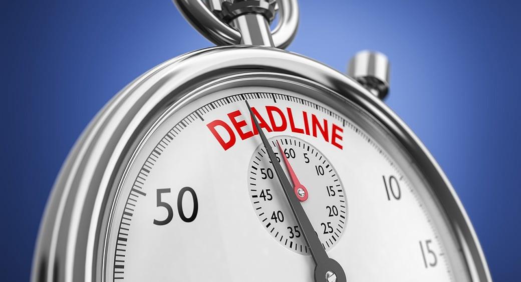 content schedule deadline image