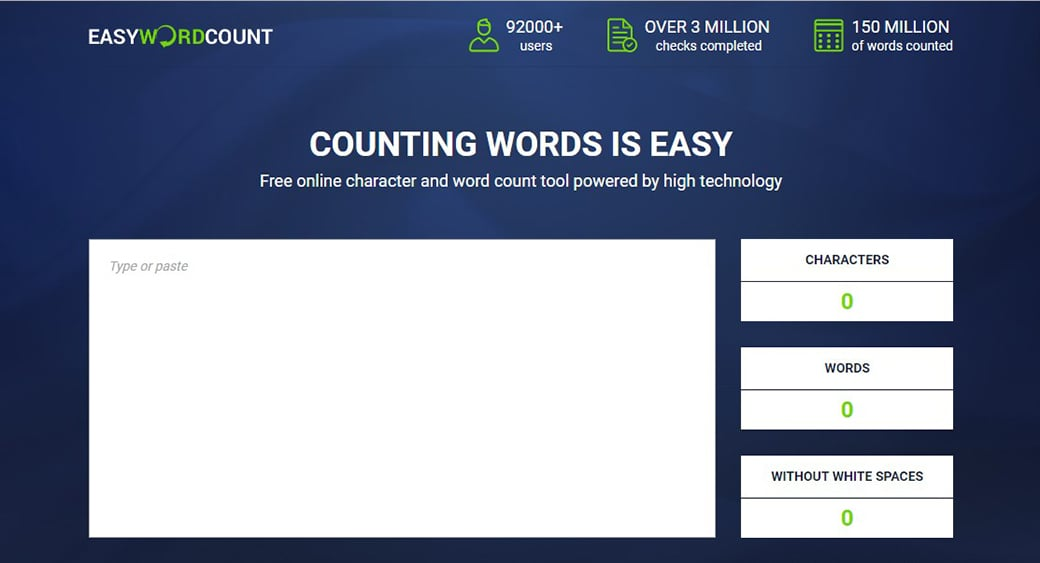 ui copywriting by easy word count