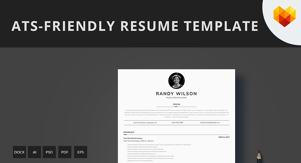 ats-friendly resume template image