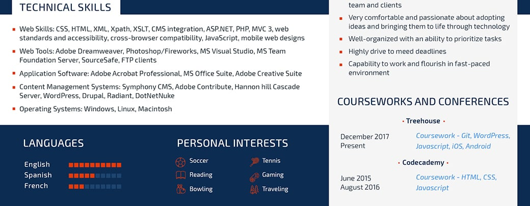 ats friendly resume skills and expertise