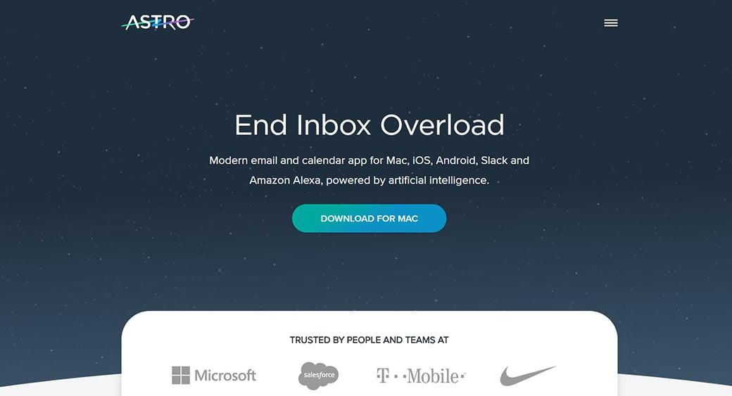Astro artificial intelligence app