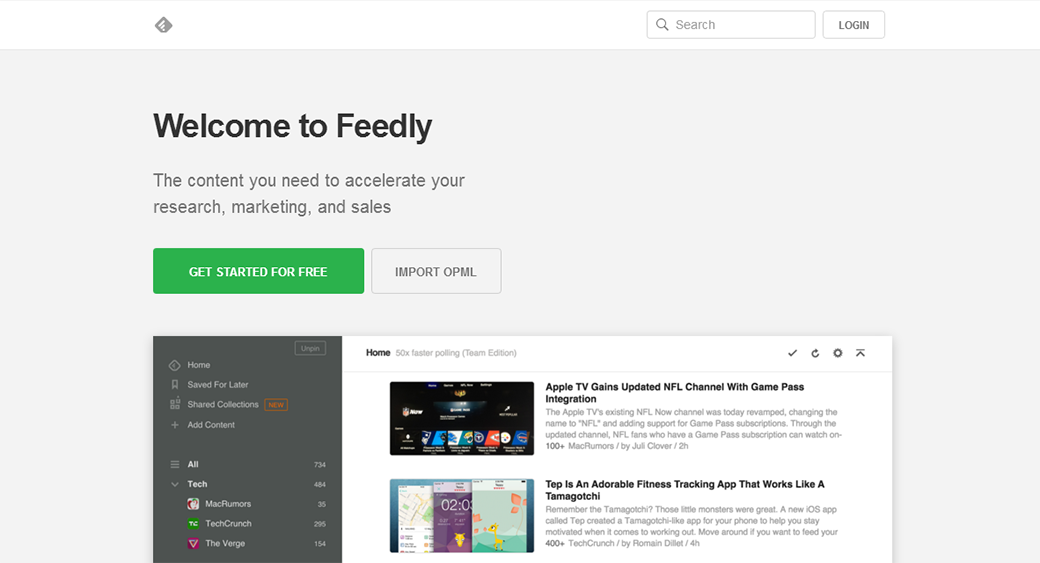 best social media analytics tool Feedly