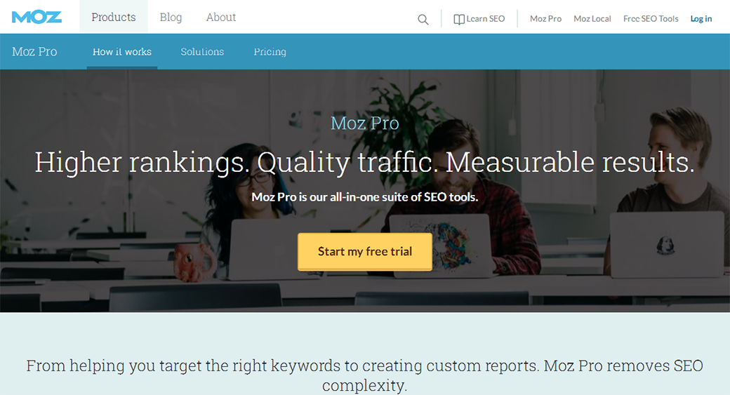 Moz social media competitor analysis tool