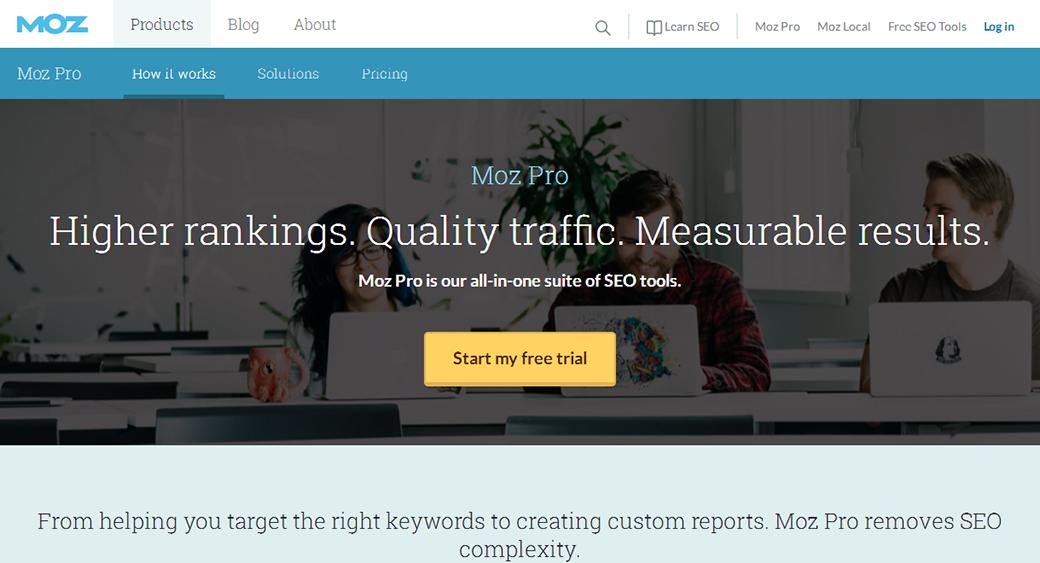 Moz social media competitor analysis tool