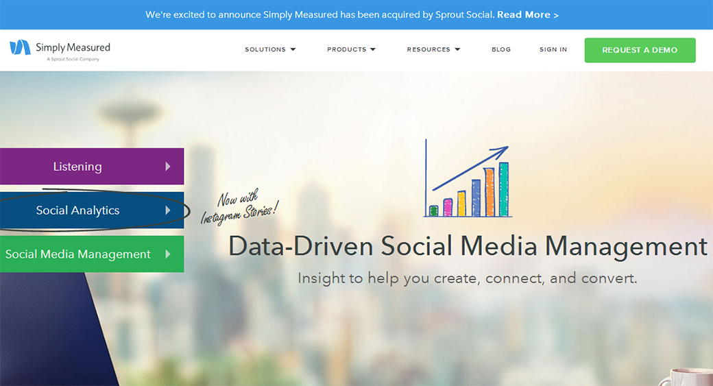 free social media monitoring tool Simply Measured
