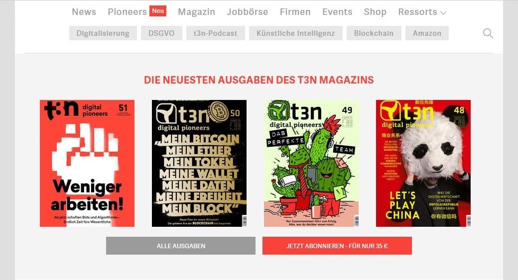 Web Nachrichten t3n digital pioneers