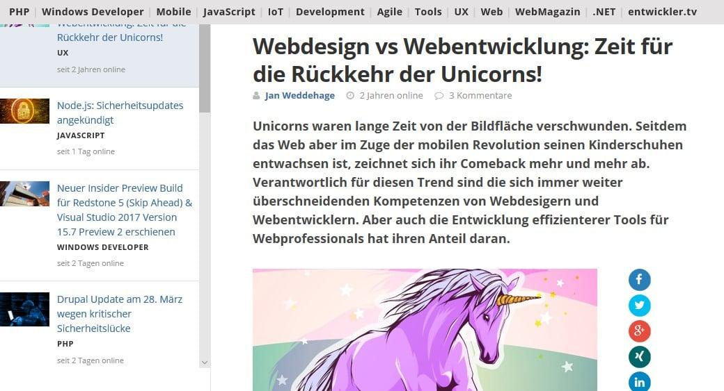 Web Nachrichten entwickler.de