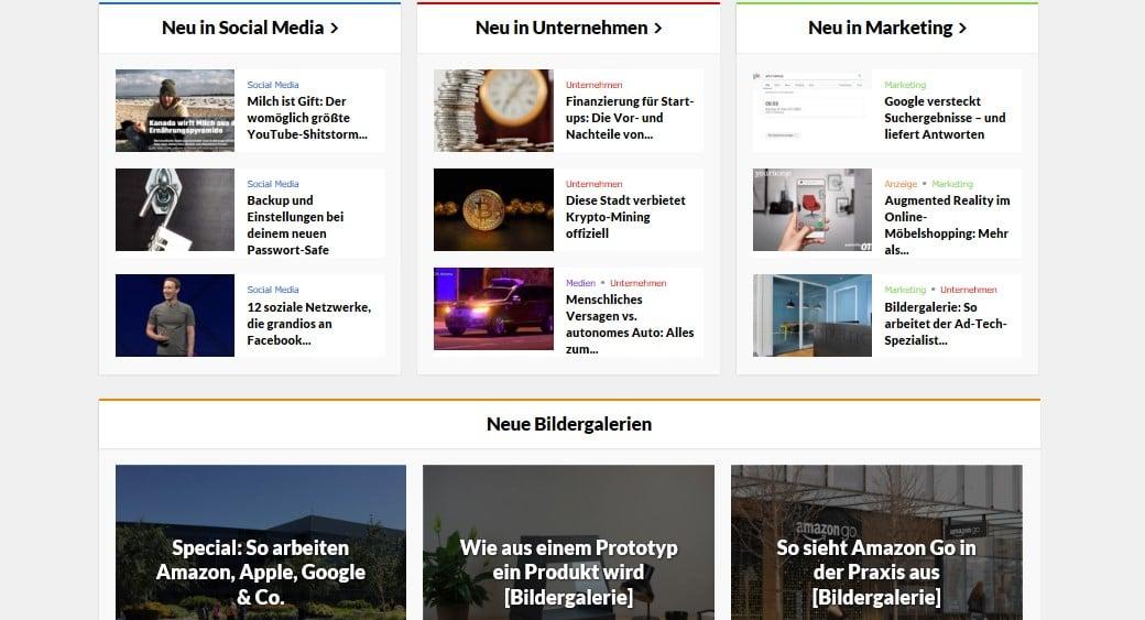 Web Nachrichten BASIC thinking