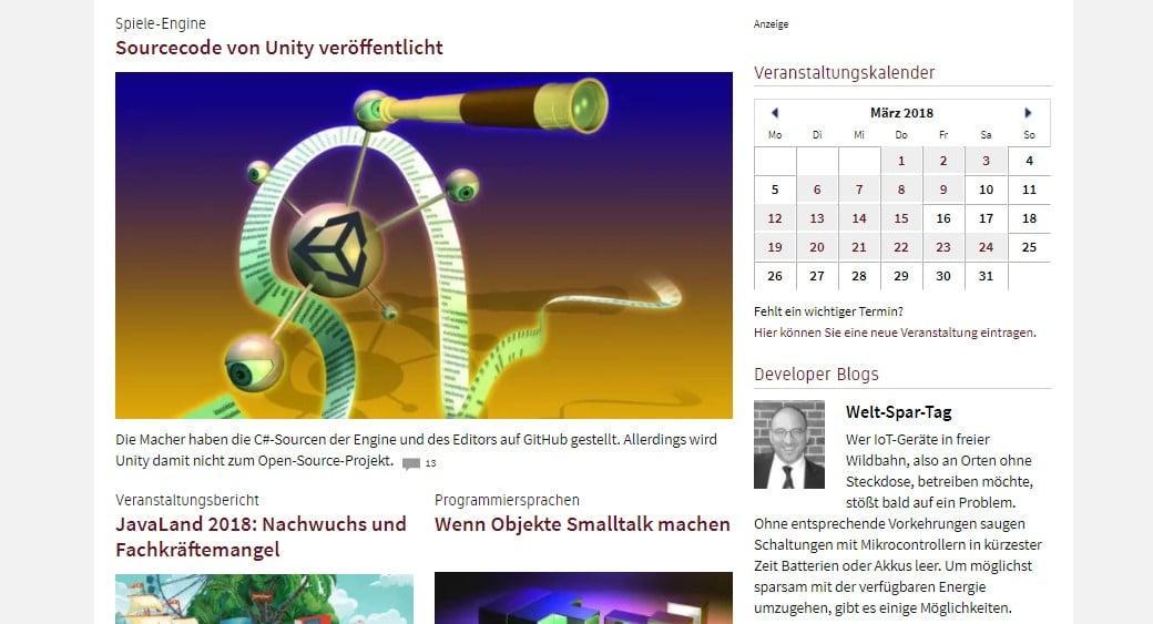 Web Nachrichten heise Developer