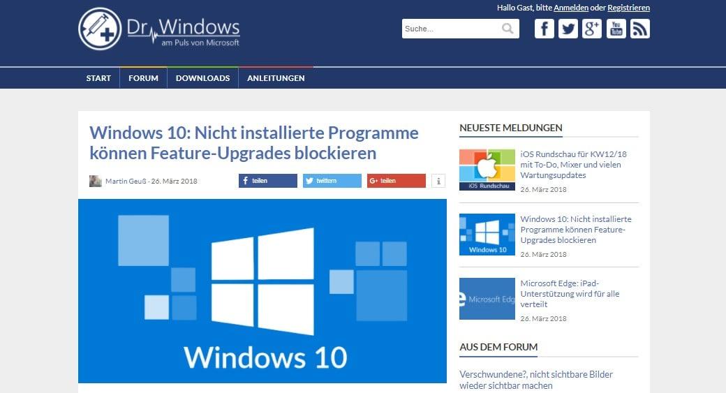 Web Nachrichten Dr. Windows