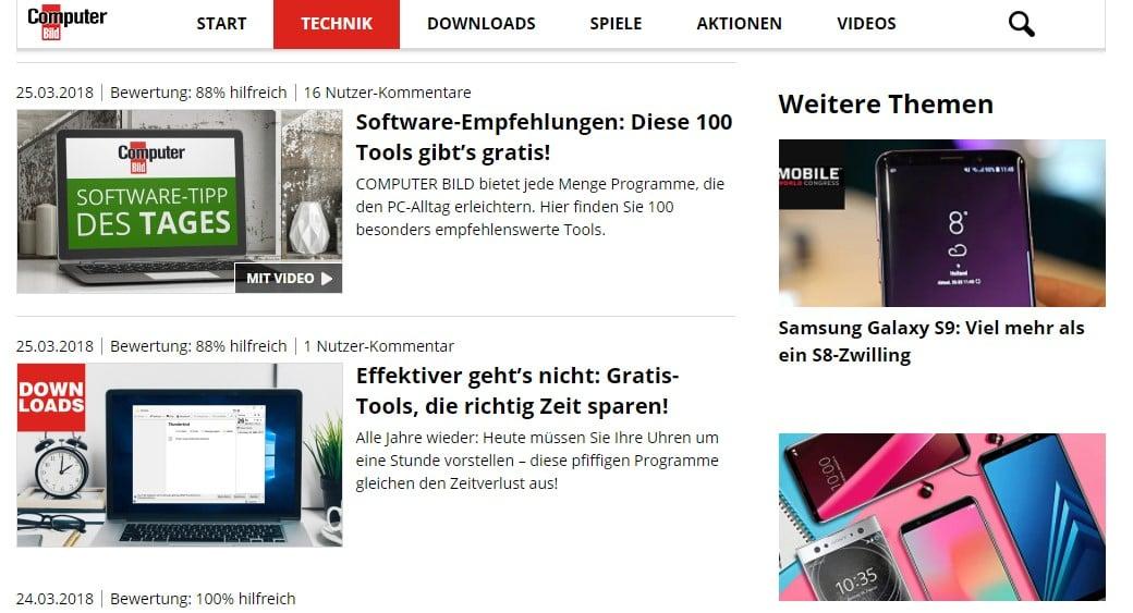Web Nachrichten Computer Bild