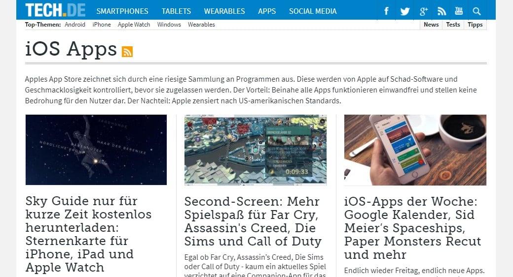 Web Nachrichten TECH.DE