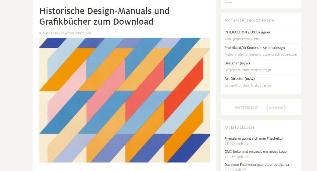 Web Nachrichten Design Tagebuch