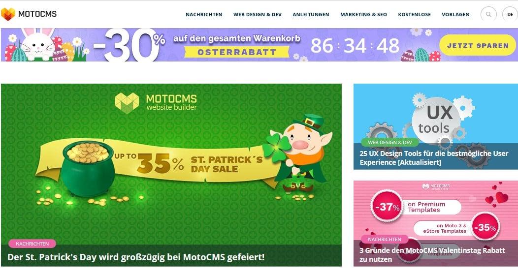 MotoCMS Blods Nachrichten Bild