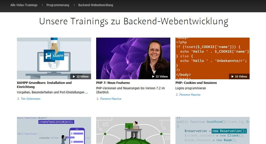 Webprogrammierung lernen Trainings Bild