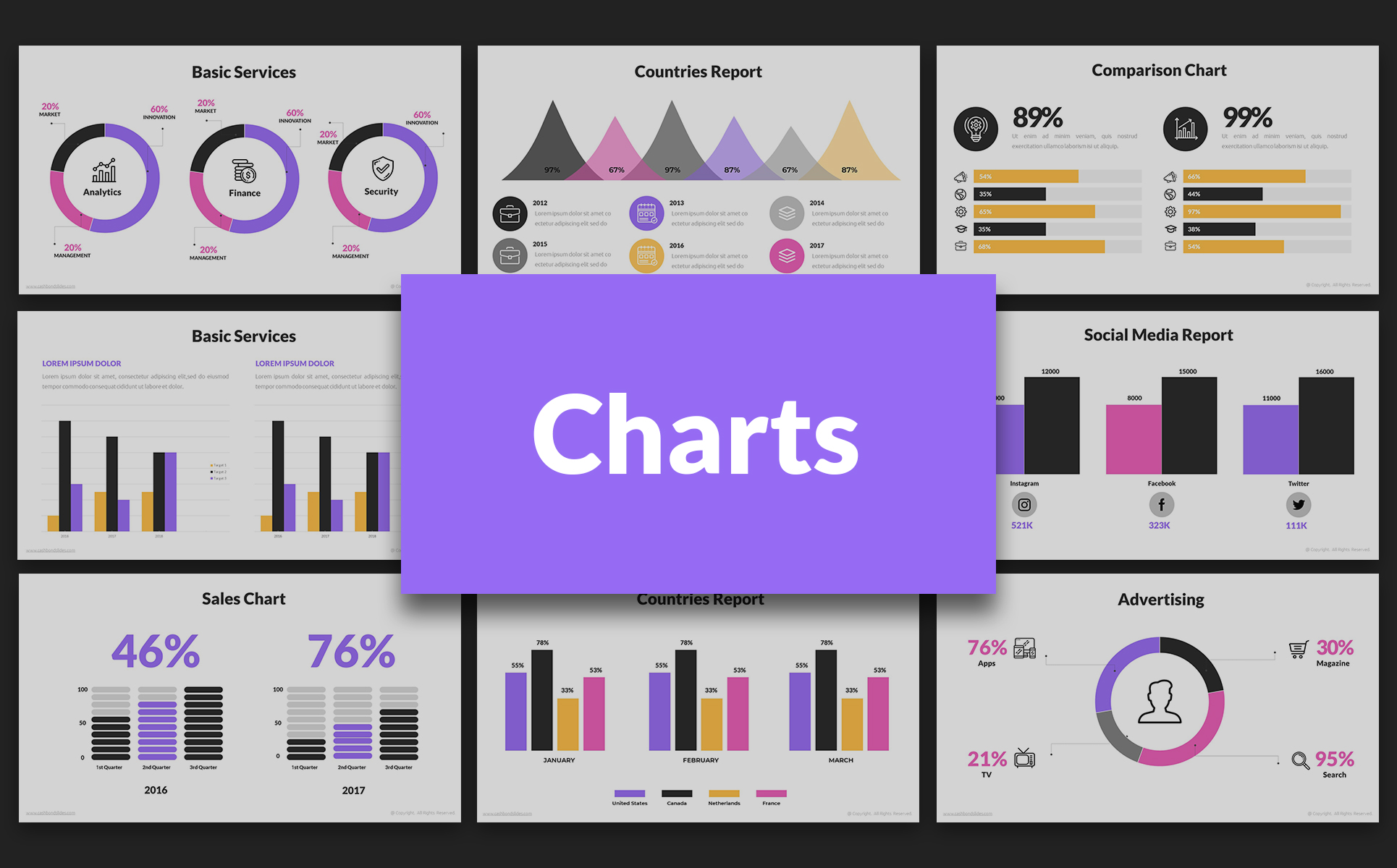 free pptx presentation with charts design