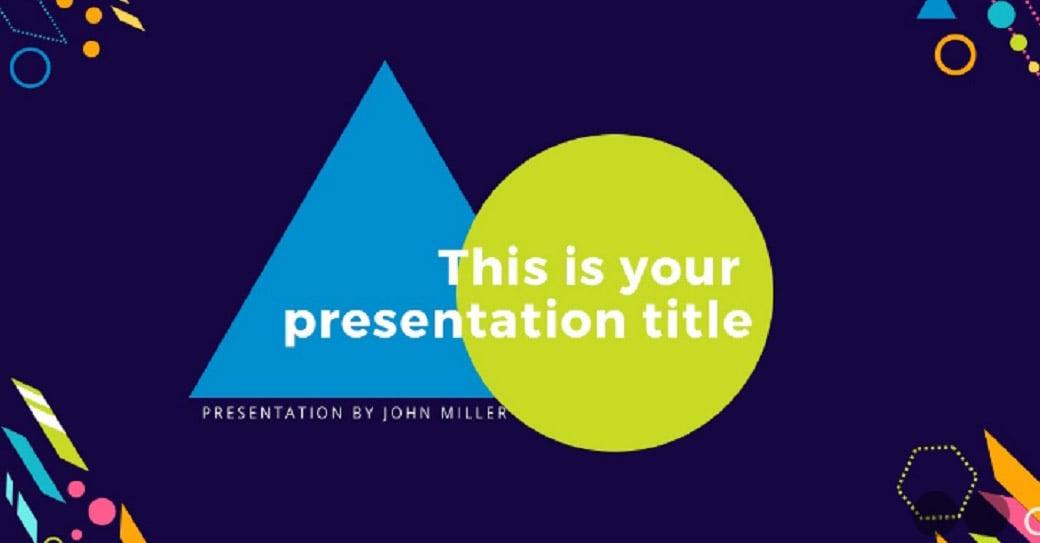 geometric free powerpoint presentation template