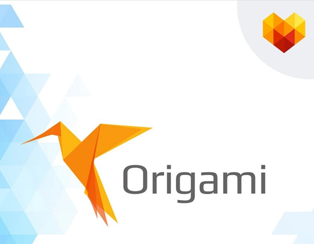 10 free photoshop logo templates to create a recognized brand image origami business logo template cheaphphosting Choice Image