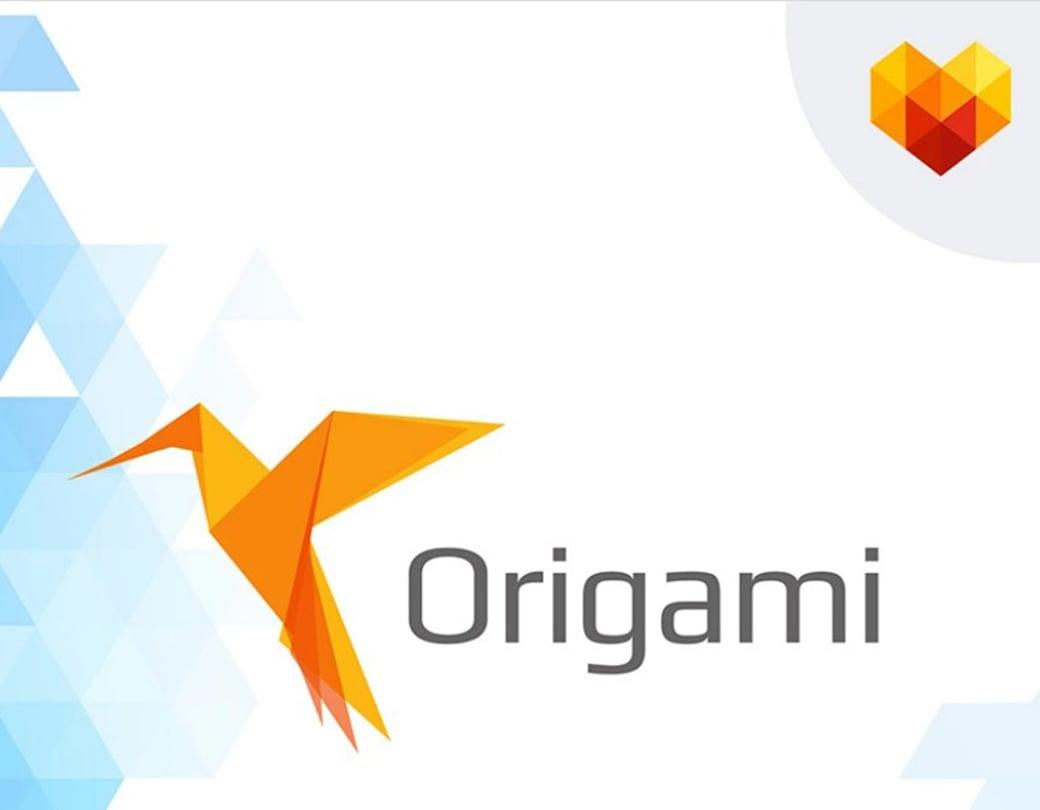 10 free photoshop logo templates to create a recognized brand image origami business logo template friedricerecipe Choice Image