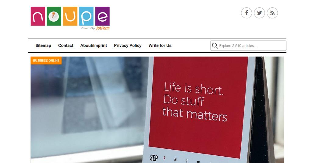 web nachrichten noupe online zeitschrift