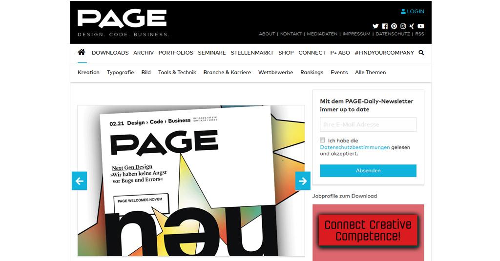 web nachrichten page magazin